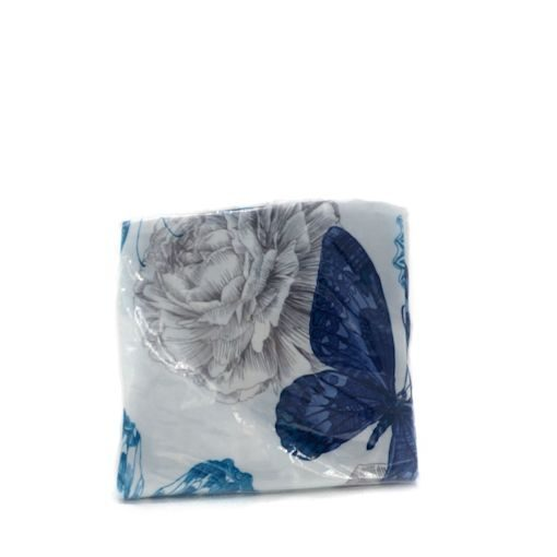 blue butterfly pillow cover