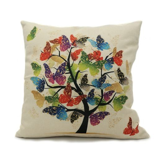 tree of butterflies throw pillow