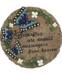 angel butterfly bead stepping stone
