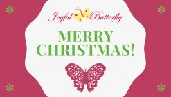 Joyful Butterfly christmas gift card