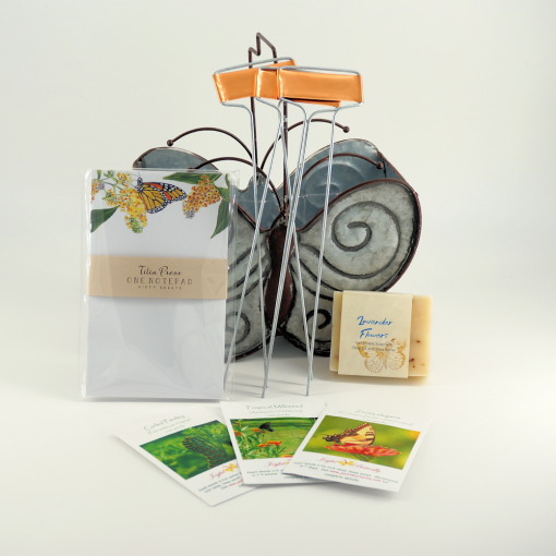 Butterfly gift basket pieces