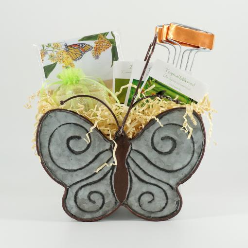 Butterfly garden gift basket